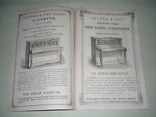 CRAMER & CO. PIANOFORTE CATALOGUE BROCHURE. ORIGINAL 1864 PUBLICATION.