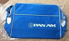 Vintage 60's 70's Pan Am Carry On Shoulder Bag Authentic Blue New Unused