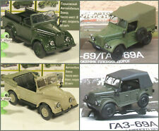 1:43 GAZ 69 69a Convertible Military 4x4 Army CA GDR USSR Soviet Russian UdSSR