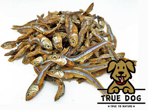 Dried Whole Sprats 1kg - 100% Natural Dried Anchovies for Dogs, Omega Fish Treat