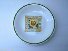 """Over and Back Italy Sunflower Design Pottery 7 7/8"""" Lunch Salad Dessert Plate"""