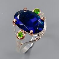 Black Opal Ring Silver 925 Sterling AAA Fire Quality GEM Size 8.75 /R146478