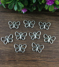 Wholesale 16pcs Tibet silver Butterfly Charm Pendant beaded Jewelry Findings !!!