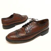 ✅💟✅@ Vintage O'Sullivan Mens Brown Wingtip Shoes Genuine Leather Lace Heels 12C