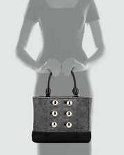 Kate Spade Beantown Quinn Heather Grey Black Gold Hardware Handbag Purse Bag