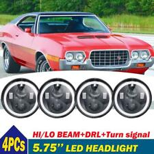 "4pcs 5.75"" 5-3/4inch Round Sealed Hi/Lo Beam DRL Halo LED Headlights Headlamp"