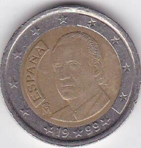 2 EURO ESPAGNE 1999 -Portrait du roi Juan Carlos de profil-
