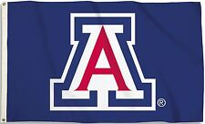 Arizona Wildcats 3' x 5' Flag (Logo Only on Blue) Ncaa Licensed