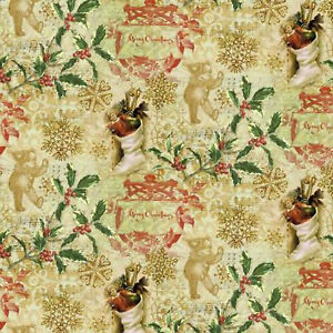 Springs Creative  Christmas Victorian Toss 69525A6207  fabric Thacker