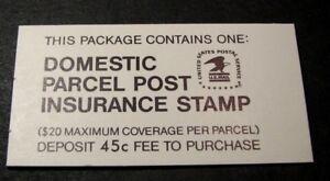 US Booklet Stamp Scott#  QI5   Domestic Postal Insurance 1981  MNH L130