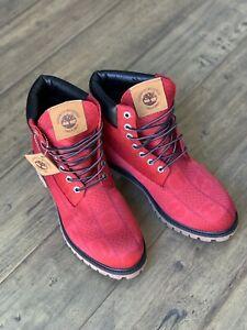 "Timberland 6"" Premium Patch Waterproof Boot Wheat Mens Size 8.5"