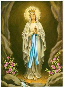 Catholic Print Picture IMMACULATE CONCEPTION OL Lourdes - ready to frame