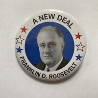 A New Deal Franklin D Roosevelt Pin Politics Pinback Political Fantasy Button