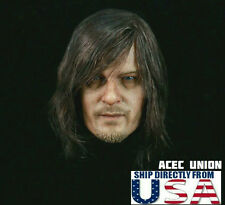 1/6 DARYL DIXON Head Sculpt The Walking Dead Norman Reedus For Hot Toys USA