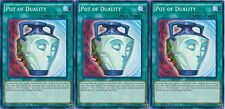 *** 3X  POT OF DUALITY 3X *** PLAYSET MIXED SETS SDOK-EN034, LDK2 (LP)  YUGIOH!