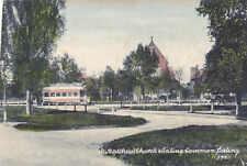 ST MATTHEW'S CHURCH & EALING COMMON, WITH TRAM - OLD POSTCARD  (ref 3267/19/B02)