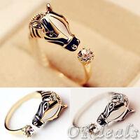 Mujer Anillos De Boda Animal Cebra Cristal Anillo Joyería Ring