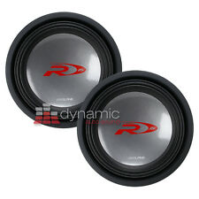 "(2) ALPINE SWR-1542D Car Audio 15"" Type-R Series Dual 4 ohm Subwoofers 4,000W"