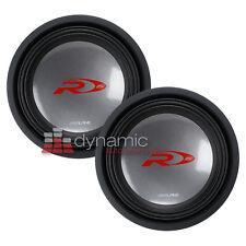"(2) ALPINE SWR-1542D Car Audio 15"" Type-R Series Dual 4 ohm Subwoofers 4,000W"