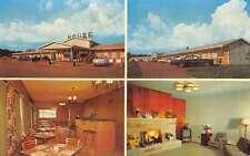 Fremont Illinois Holiday House Motel Multiview Vintage Postcard K59187