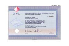 ZWL Ziegelwerke Ludwigsburg DM Aktie 1996 ElringKlinger Bietigheim-Bissingen BaW