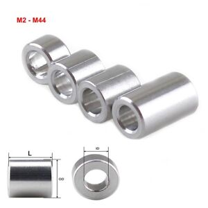 Aluminum Bushing Gasket Round Sleeve Unthreaded Spacers Standoff M2-M44 All Size