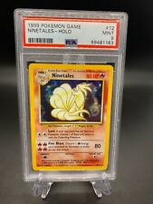 Pokemon Cards 1999 Base Set Unlimited Ninetales Holo 12/102 PSA 9 MINT
