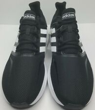 ADIDAS RUNFALCON MEN'S 12 BLACK/WHITE RUNNING SHOES, F36199. 100% Authentic.