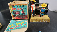 Line Mar BOXED Made in Japan Tin Key Wind Up Mechanical Ham n Sam