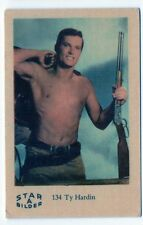 1960s Swedish Film Star Card Bilder A #137 US Western Bronco Actor Ty Hardin