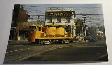 TTC Sand Car W-26 at Hillcrest Way Yard Train Postcard 1965