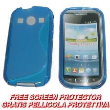 Pellicola+Custodia cover case WAVE BLU per Samsung S7710 Galaxy Xcover 2