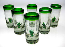 Mexican SHOT Glasses agave cactus for tequila, 6