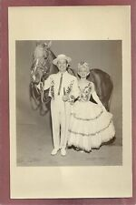 RPPC Man & Lady with horse,Circus Performer Style Clothing?