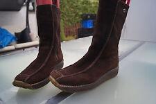 DOCKERS Damen Winter Schuh Boots Stiefel Gr.38 wildleder braun warm gefüttert #d