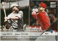 2018 Topps NOW Moment of the Week 1 Shohei Ohtani/Babe Ruth MOW-1 Great card!!!