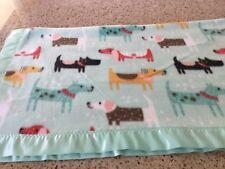 Handmade fleece pet blanket, colorful dogs!
