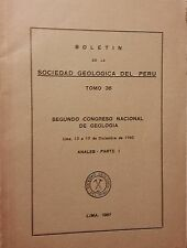 Boletin de la Sociedad Geologica Peru 36 1961 Segundo Congreso Nacional Geologia