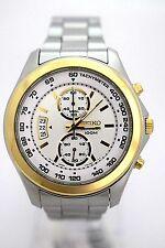 SEIKO Men SNN256P1 Chronograph White Dial Stainless Steel Bracelet