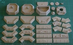6mm-10mm Epic Scale Wargaming Scenery Sci-fi -  Military Outpost Set