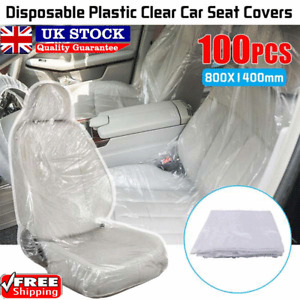 100PCS Disposable Plastic Car Seat Covers Repair Service And Vehicle Maintenance