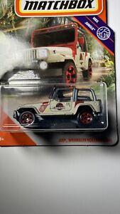 2020 Matchbox MBX Jungle #72/100 Jeep Wrangler Rollbar (18#) Jurassic Park NIP
