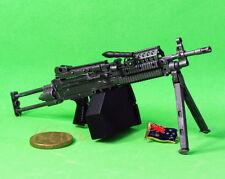 MK46_A MK46 Mod 0 Figure Para Stock Military M249 Light Machine Gun Model 1:6