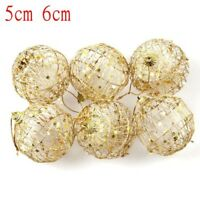 6Pcs Christmas Tree Xmas Balls Decoration Baubles Party Wedding Ornament