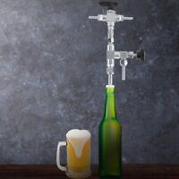 Stainless Steel Counter Pressure Beer Bottle Filler CO2 Beer For Homebrew Silver