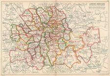 Bacon 1934 Map High Quality Goods Constituencies Boroughs # Electors Greater London Parliamentary