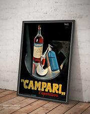 🍷 POSTER NIZZOLI CAMPARI LOCANDINA 1931 VINTAGE STAMPA FINE ART DI PREGIO 🇮🇹