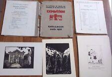 24 ESTAMPES ORIGINALES 25 €/pièce (22 SIGNÉES) artistes METZ / MOSELLE (1931/32)