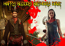 BLOOD DRIVE TV show spoof PERSONALISED Happy Birthday Sci-fi Greeting ART Card
