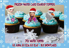 DISNEY FROZEN Elsa Anna Olaf Christmas Snowflake Edible cup cake standup toppers